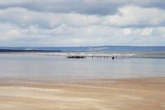 视频广告射击在北海的 图库摄影