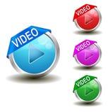 视频按钮 免版税库存图片