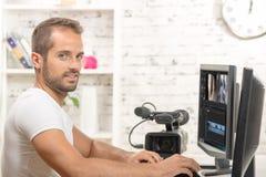 视频编辑器 免版税库存图片