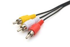 视频音频的电缆 库存照片