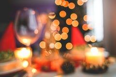 幻觉晚餐和酒 库存图片