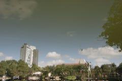 幻觉盐水湖, tomas garrido canabal公园比利亚埃尔莫萨,塔巴斯科州,墨西哥 免版税库存图片