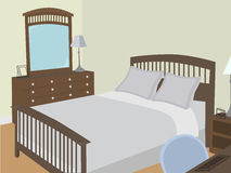 角度卧室对象传统化了 免版税图库摄影