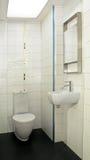 角度小的洗手间 免版税图库摄影