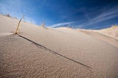 角度沙丘低沙子 库存照片