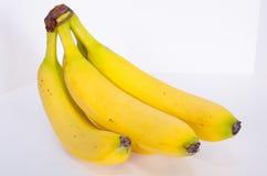 从角度的香蕉束 免版税库存图片