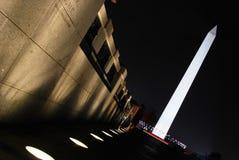 角度纪念碑华盛顿 免版税库存照片