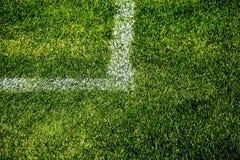 角度线路标记足球 免版税库存照片