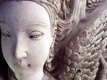 角度雕象的面孔 免版税库存图片
