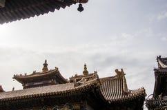 角度高屋顶寺庙 图库摄影
