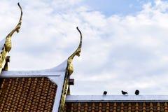 角度高屋顶寺庙 库存照片