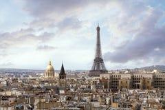 角度高巴黎视图 免版税库存照片