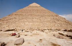 角度khafre宽金字塔视图 图库摄影