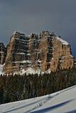 角砾岩峰顶和峭壁在Togwotee通过在杜波伊斯和杰克逊之间在怀俄明美国我 免版税库存图片