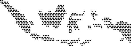 黑角规-印度尼西亚的地图 库存图片