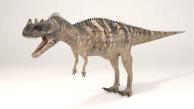 角鼻龙恐龙 库存照片