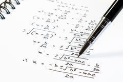 解决指数方程背景概念 免版税库存图片