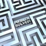 解决的迷宫问题 免版税库存照片