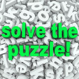 解决难题词查寻混杂困难的信件挑战 免版税库存照片