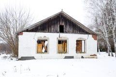 解决Elitnyy,克拉斯诺达尔边疆区,俄罗斯的管理的老大厦 苏联遗产 使荒凉的 免版税库存照片