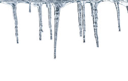 解冻的冰柱 免版税库存照片