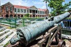 解放有历史的牙买加广场 免版税库存照片