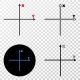 解析的轴导航与等高版本的EPS象 库存例证