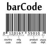 解码条形码 皇族释放例证