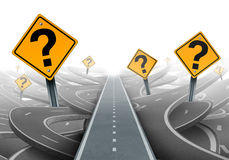 解答和战略道路 免版税库存照片