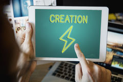 解答想法想象力启发概念 免版税库存照片