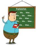 解释主题的肥胖教师 向量例证