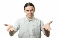 解释人年轻人 图库摄影