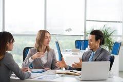 解释企业想法 免版税库存图片