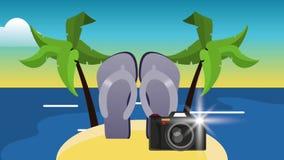 触发器和照相机HD定义 皇族释放例证