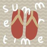 触发器拖鞋夏时印刷品海报 库存图片