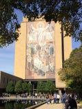 触地得分耶稣Notre Dame 库存照片