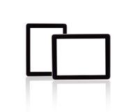 触摸屏与黑屏的片剂计算机 库存图片