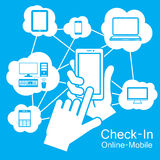 触摸屏巧妙的电话,通讯技术 免版税库存照片