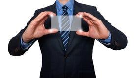 触摸屏概念-商人-储蓄图象 免版税库存图片