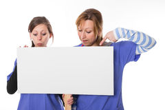 触击的护士 免版税库存图片