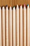 直言的铅笔行  库存照片