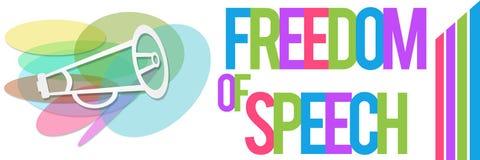 言论自由五颜六色的横幅 免版税库存图片