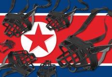 言论自由和人权在北朝鲜 库存图片