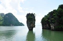 詹姆士・邦德海岛, Phang Nga海湾,普吉岛,泰国 图库摄影