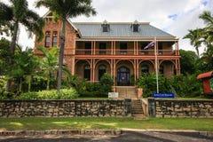 詹姆斯・库克博物馆, Cooktown,昆士兰 库存图片