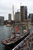 詹姆斯克雷格是三被上船桅的,铁被去壳的三桅帆 免版税图库摄影