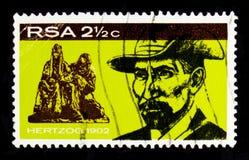 詹姆斯巴里Munnick Hertzog 1866-1942, serie,大约1968年 免版税库存图片