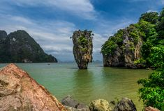詹姆斯庞德海岛(酸值Tapoo),泰国 库存图片
