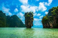 詹姆斯庞德海岛- khao phing kan 图库摄影