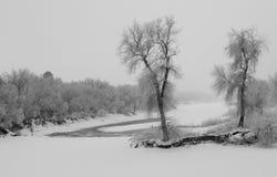 詹姆斯河冬天 库存图片
